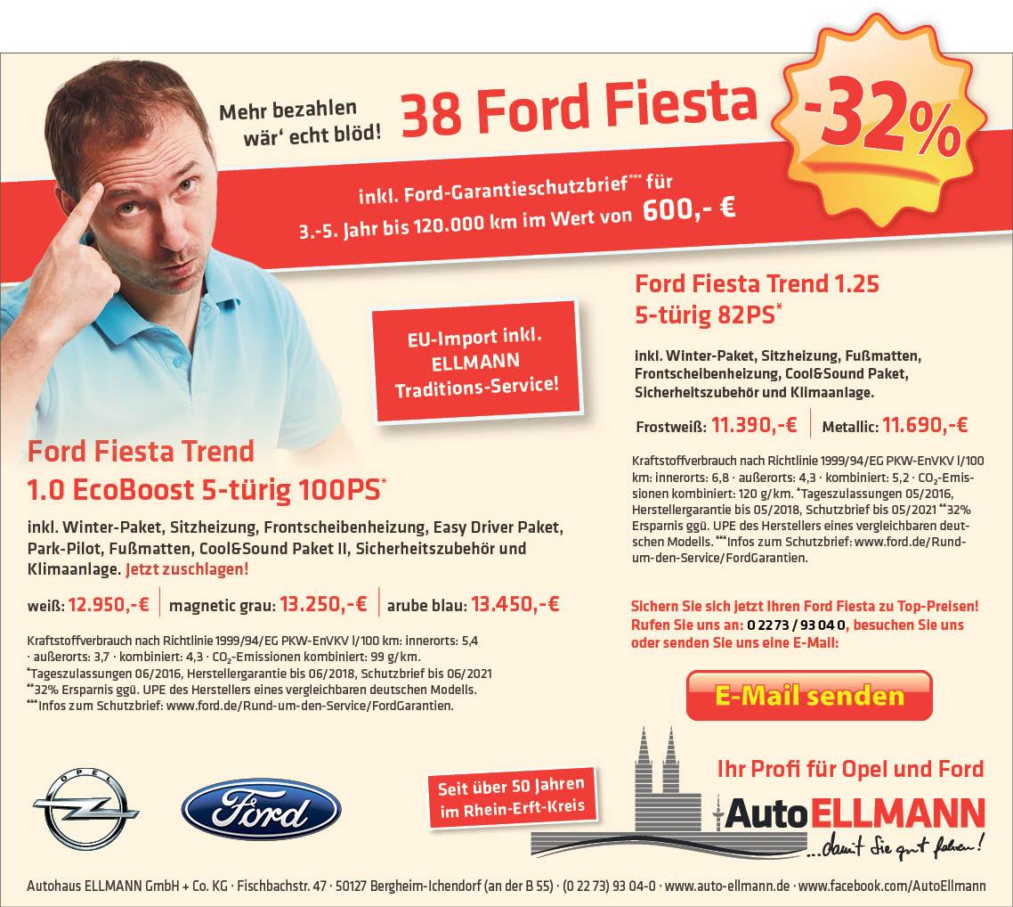 Ford Fiesta -32%