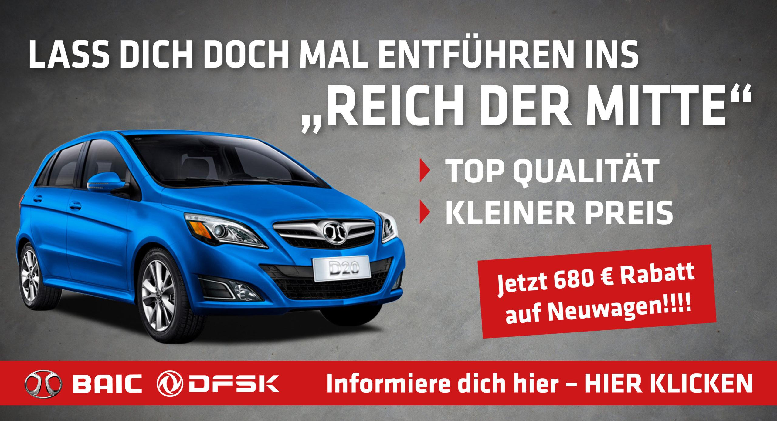 """Lass dich doch mal entführen ins """"Reich der Mitte"""" - Top Qualität - kleiner Preis - Jetzt 680 € Rabatt auf Neuwagen!!!! - Informiere dich hier – Hier klicken"""